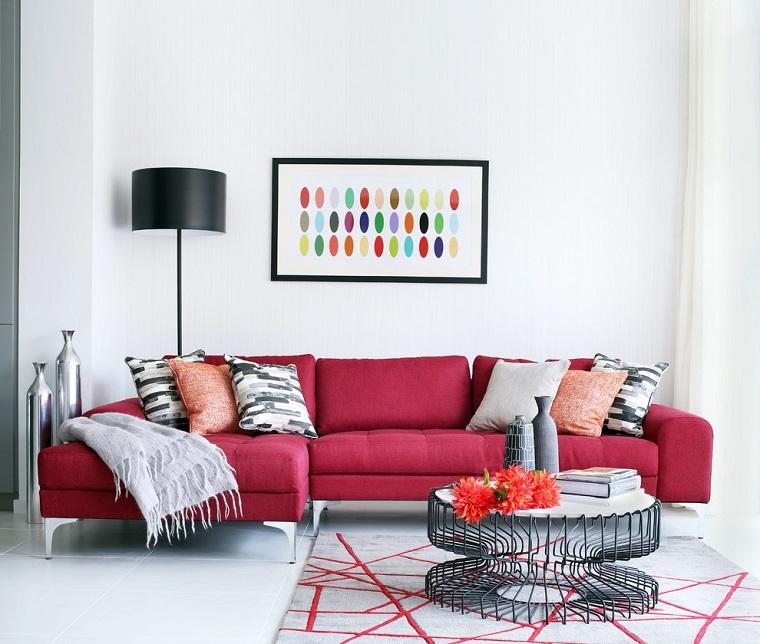 come arredare salotto-idea-stile-minimal