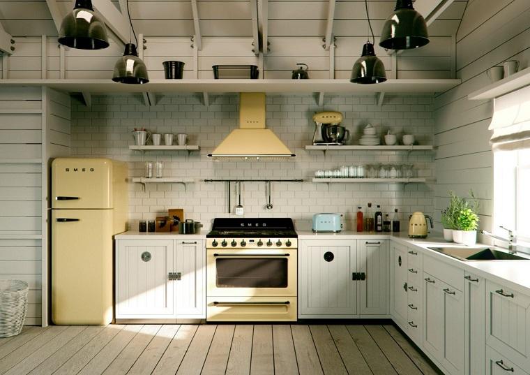 cucina angolare-arredamento-stile-country