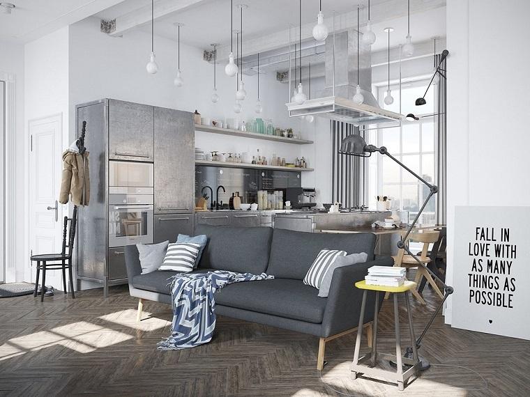 cucina-arredata-stile-industriale-scandinavo
