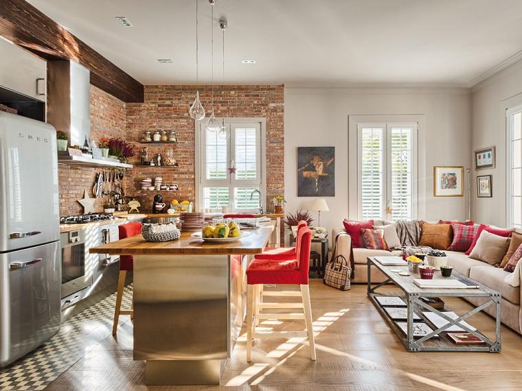 cucina-soggiorno-arredamento-stile-industriale