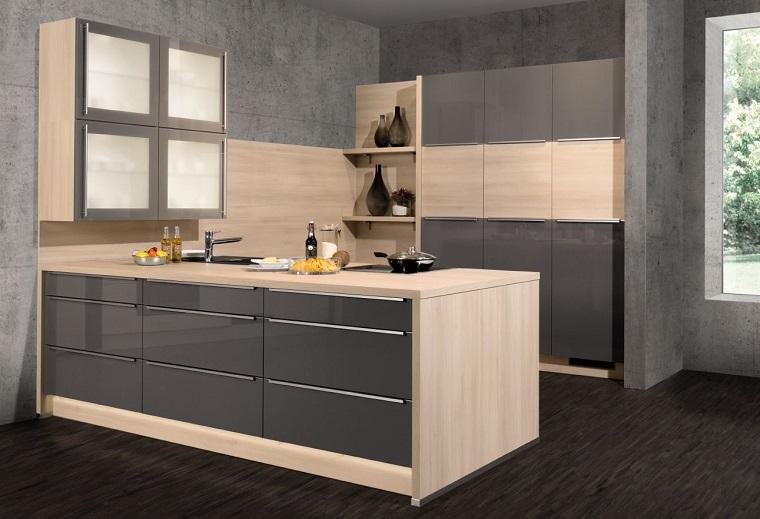 cucine-ad-angolo-arredo-stile-moderno-grigio-lucido