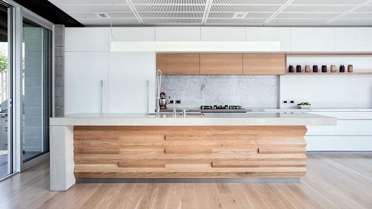 Cucina Con Isola In Legno Scorrevole Interior Design : Cucina con isola centrale spazio e funzionalità per chef