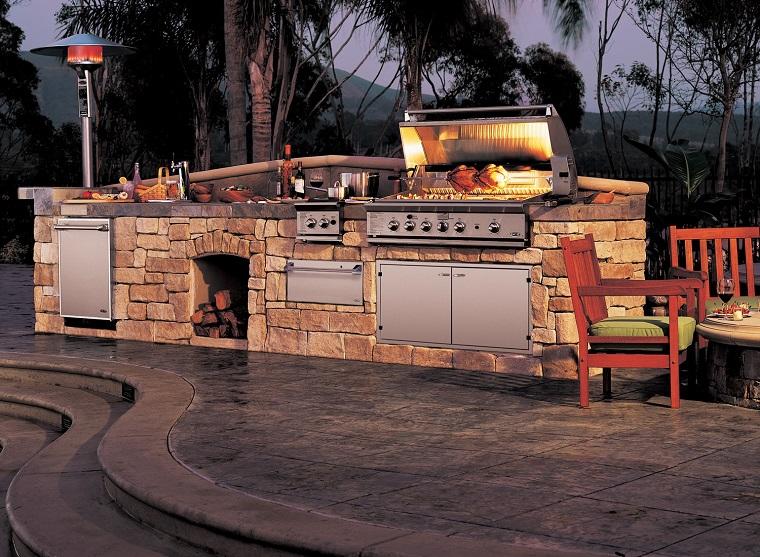 cucine da giardino-idea-stile-rustico