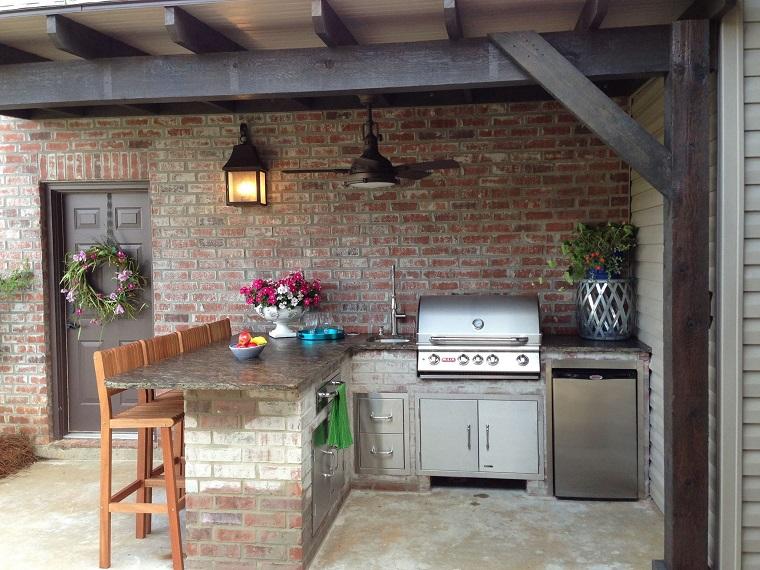 cucine da giardino-soluzione-muratura-barbecue