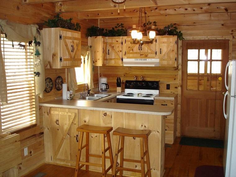 cucine rustiche-idea-spazio-limitato