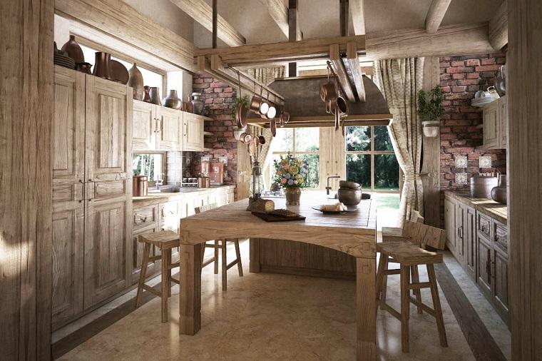 cucine rustiche-legno-chiaro