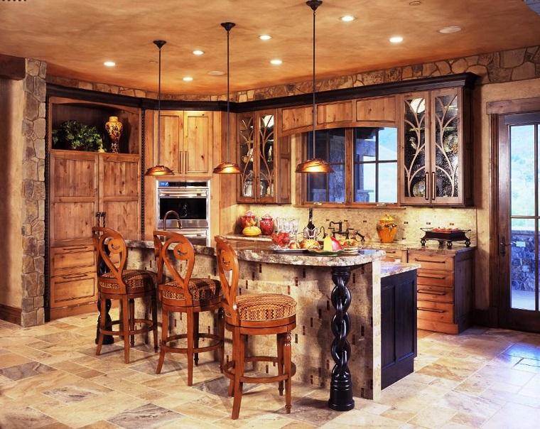 cucine rustiche-parete-muratura