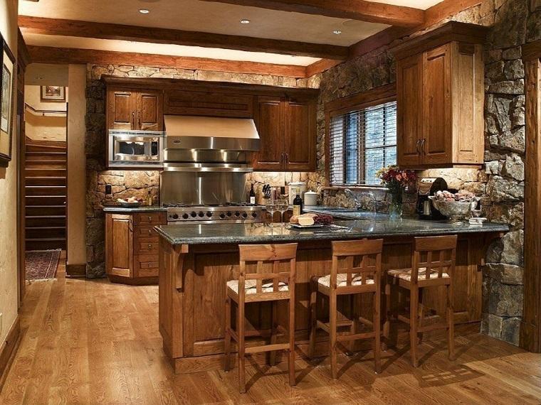 cucine rustiche-proposta-legno-muratura
