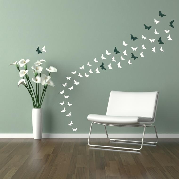 decorare la casa-addobbi-primavera-parete