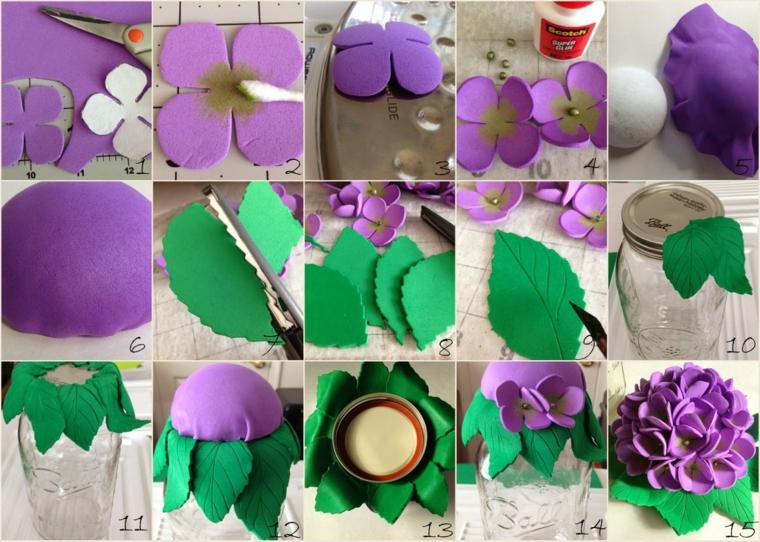 decorare la casa-fiori-fai-da-te-pongo