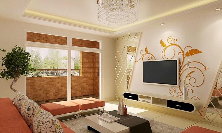decorare pareti-idea-zona-televisione