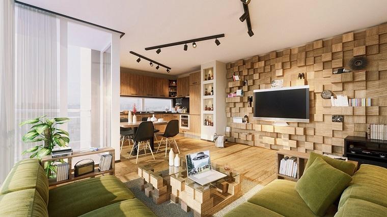 decorare pareti-proposta-quadrati-legno