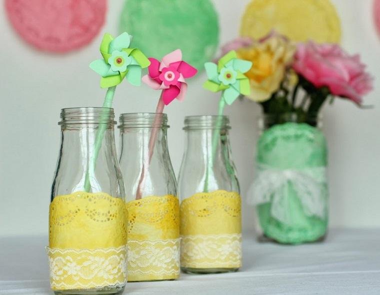 decorazioni-fai-da-te-bottiglie-fiori