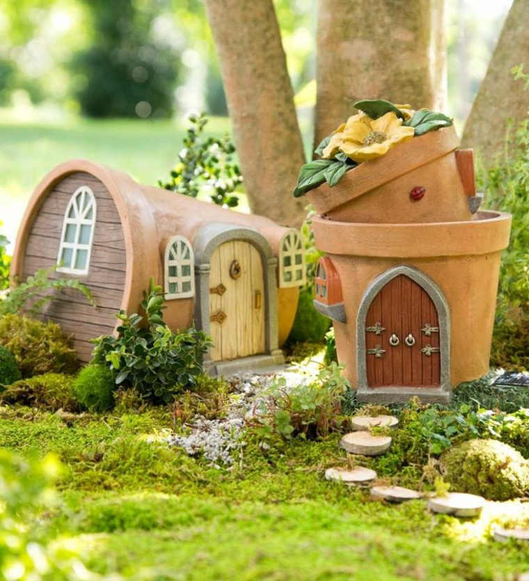 giardini in miniatura-vasi-terracotta-casette