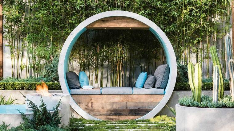 giardino moderno-bambu-cactus-originale-area-relax
