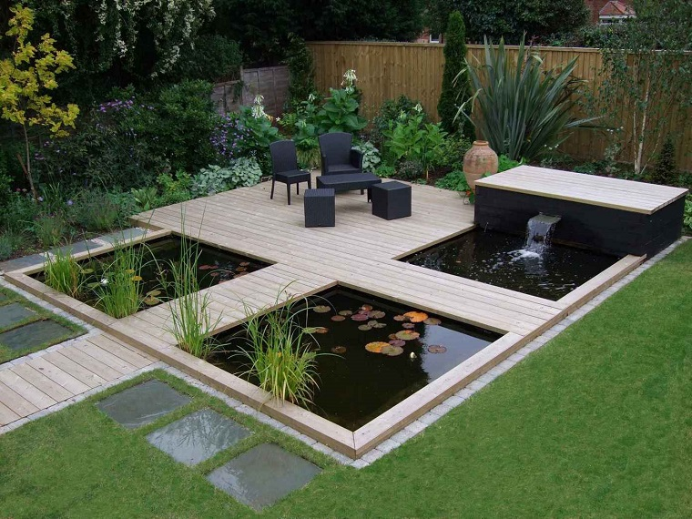 giardino moderno-forma-quadrata-laghetti