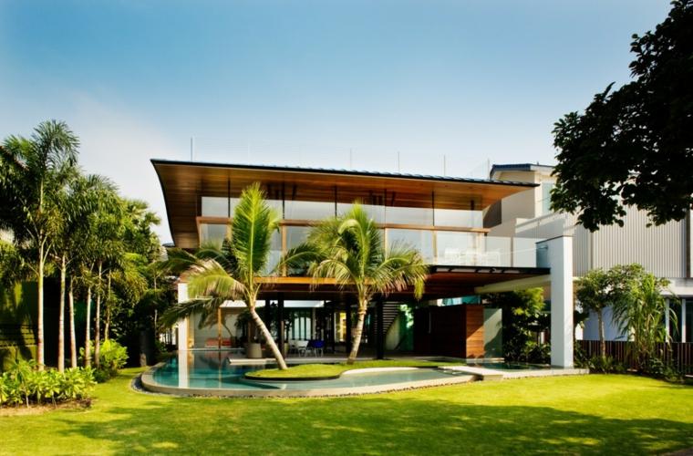 giardino moderno idea-originale-piscina