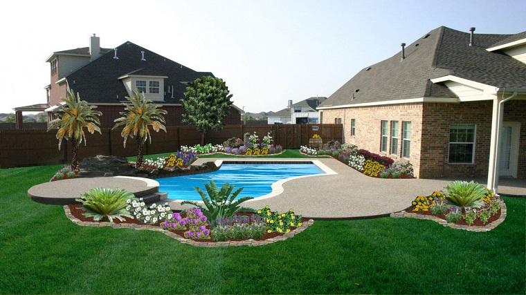 giardino moderno-piante-fiori-piscina