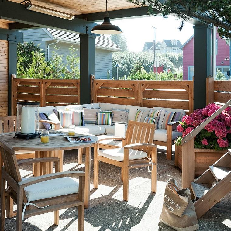 giardino shabby chic-set-mobili-legno