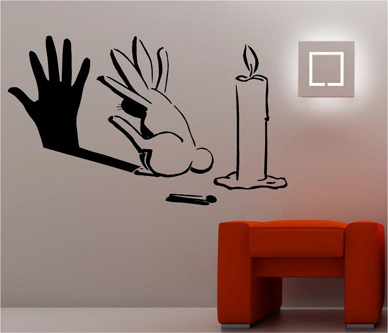 idee creative da realizzare-decorazione-parete-soggiorno