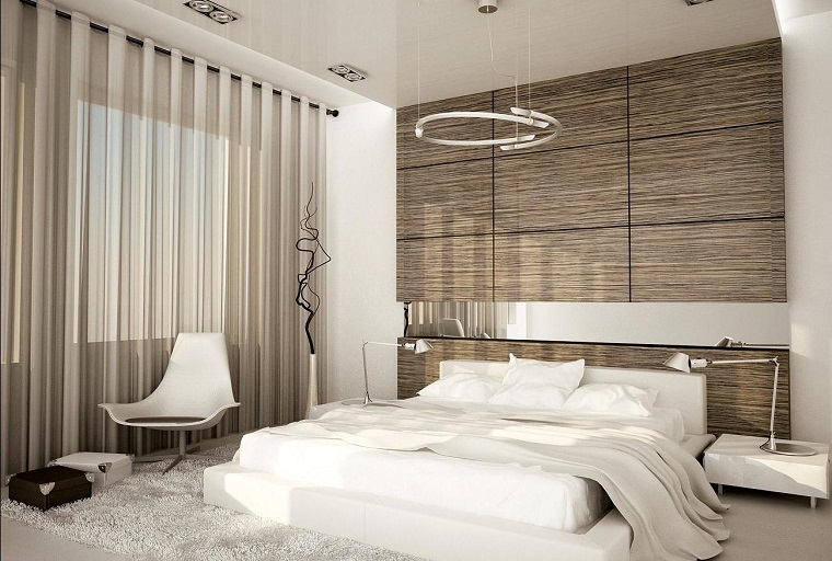 idee fai da te-camera-letto-pannello-legno