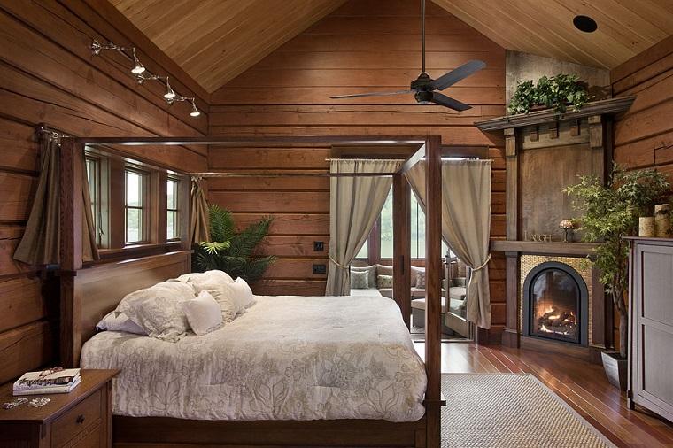 idee fai da te-camera-letto-stile-rustico