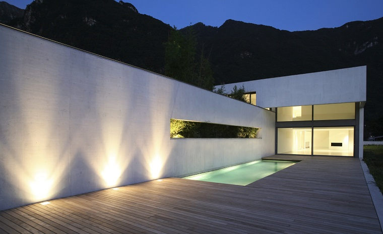 Illuminazione da giardino a led di design minimalism