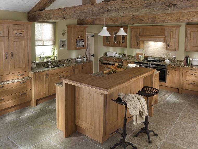 isola-centrale-cucina-stile-rustico