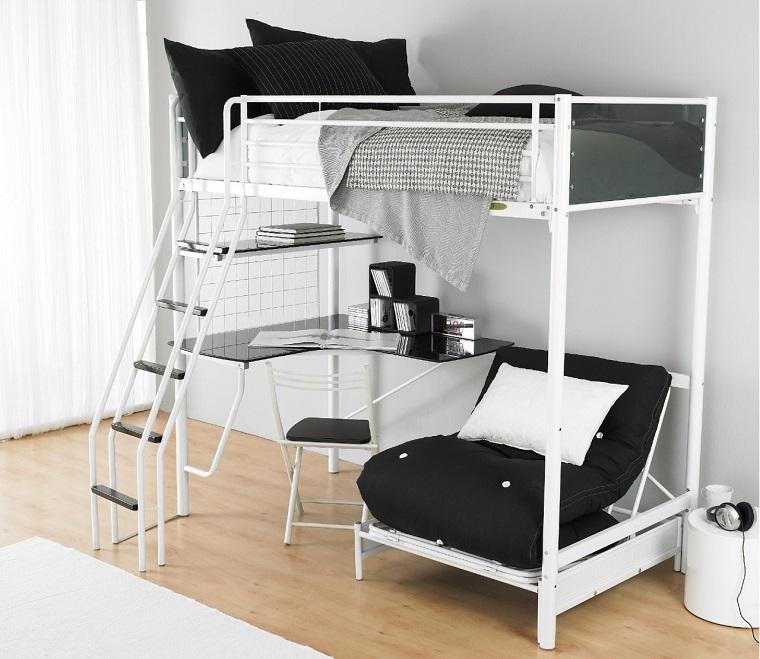 letti-a-ponte-struttura-metallo-bianco