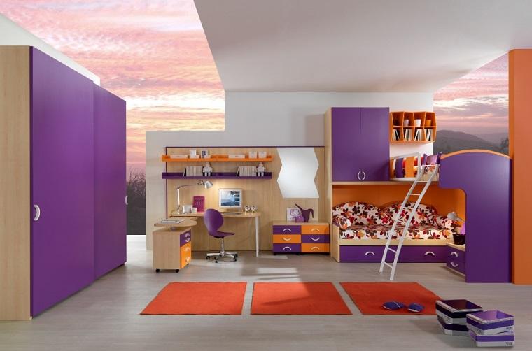 letto a ponte-soluzione-viola-arancione