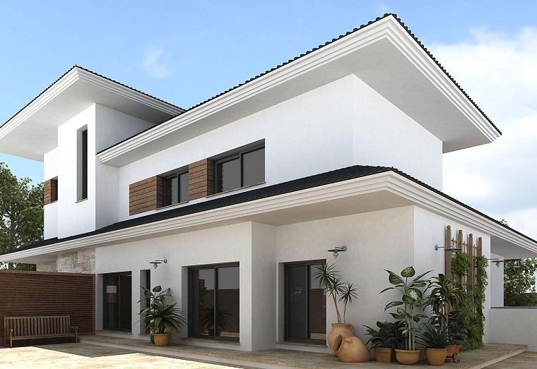 pittura esterna casa-proposta-elegante-bianco