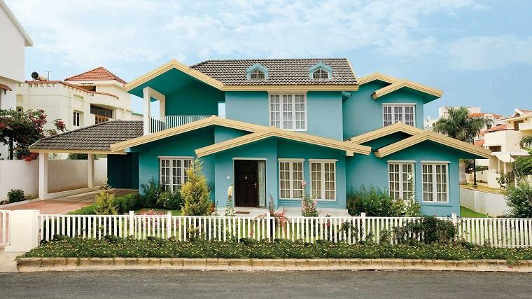 pittura esterna casa-soluzione-azzurro