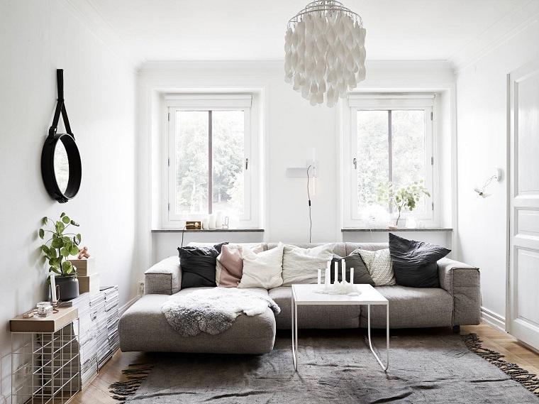 soggiorno-stile-scandinavo-lampadario-sospensione