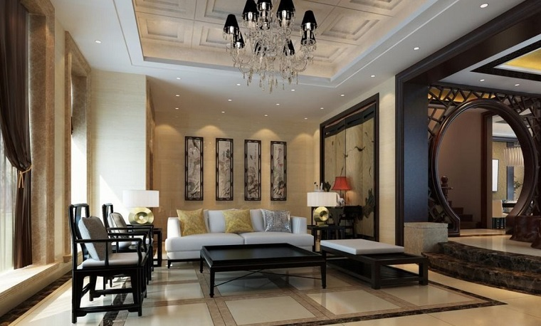 stile classico moderno-ampio-salotto