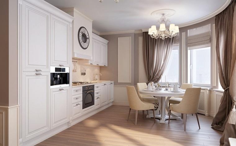 stile-classico-moderno-cucina-tavolo-tondo