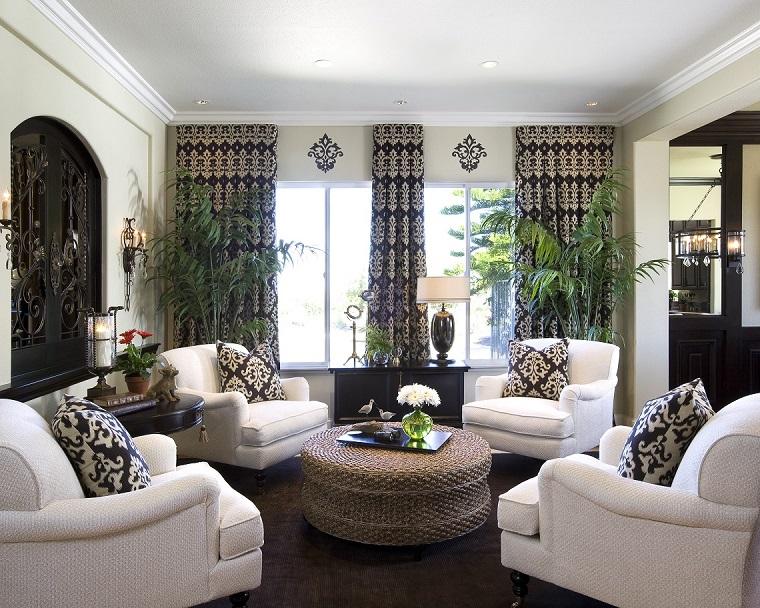 stile classico moderno-living-poltrone-bianche