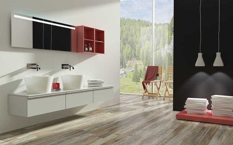 Parquet chiaro la soluzione ad hoc per lo stile - Tipi di bagno ...