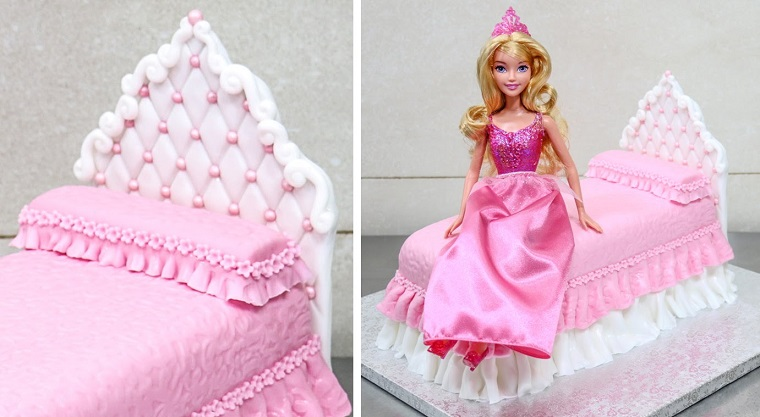 torta-principesse-letto-bambola