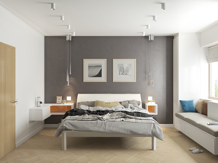Camera da letto grigia: ideale per chi ama lo stile moderno, ma non ...