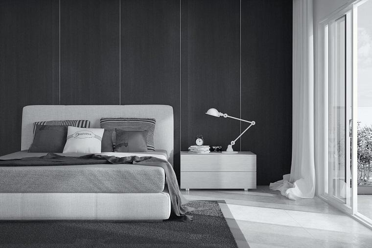 Camera Da Letto Con Pareti Asimmetriche Bianco E Grigio Interior Design : Camera da letto grigia ideale per chi ama lo stile