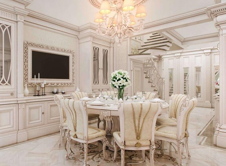 Stile classico e soluzioni d 39 arredo per ogni ambiente for Arredamento sala pranzo