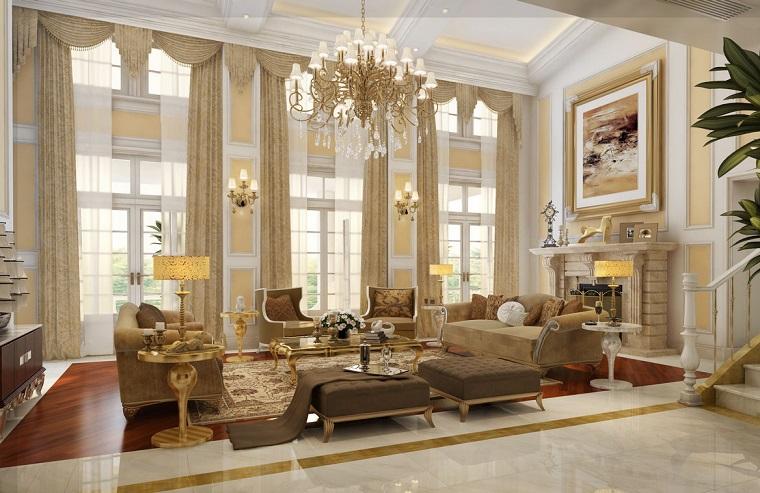Soggiorni classici quando l 39 eleganza diventa protagonista for Arredamento stile classico