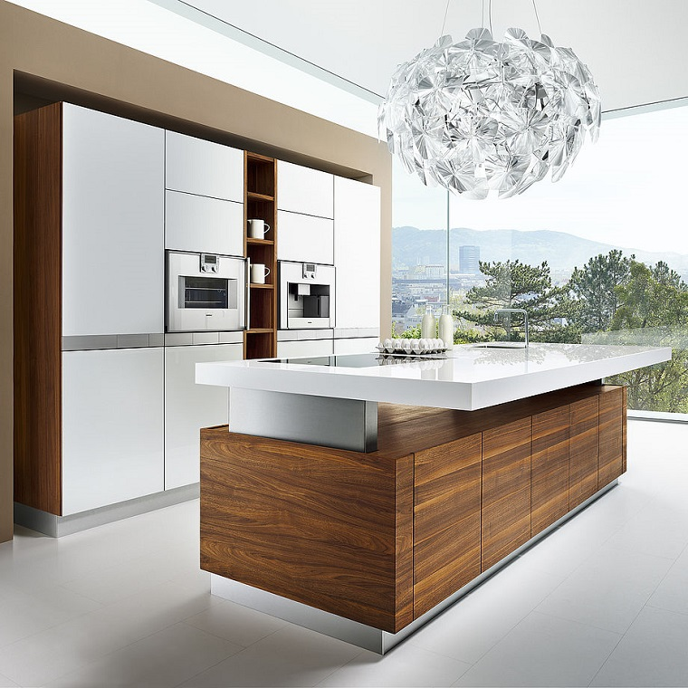 Cucina Con Isola In Legno Scorrevole Interior Design : Cucine con isola centrale ecco come unire funzionalità e
