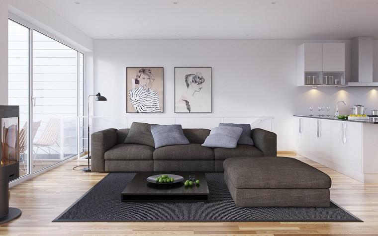 arredamento moderno casa-toni-grigio
