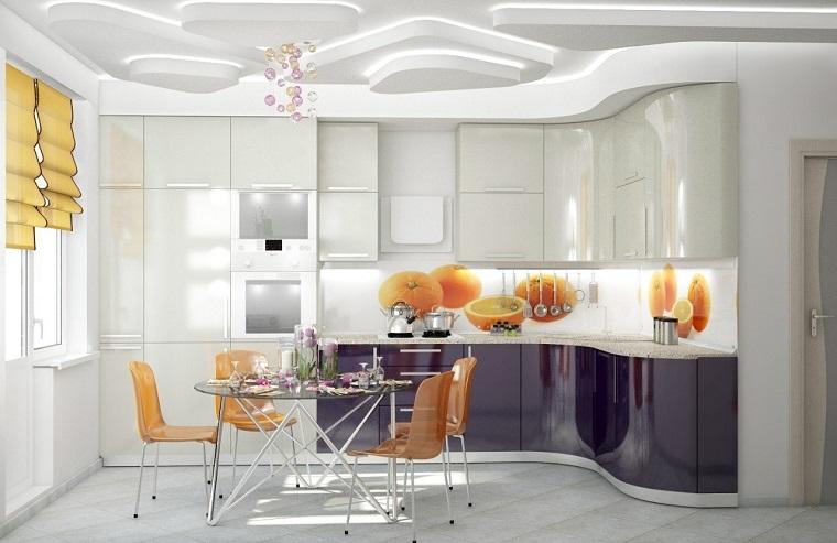 Cucina bianca moderna ecco 10 idee di arredamento per uno for Cucina moderna bianca lucida