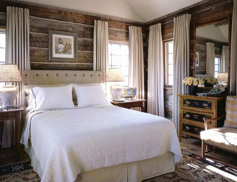arredamento-rustico-camera-letto-tende-bianche