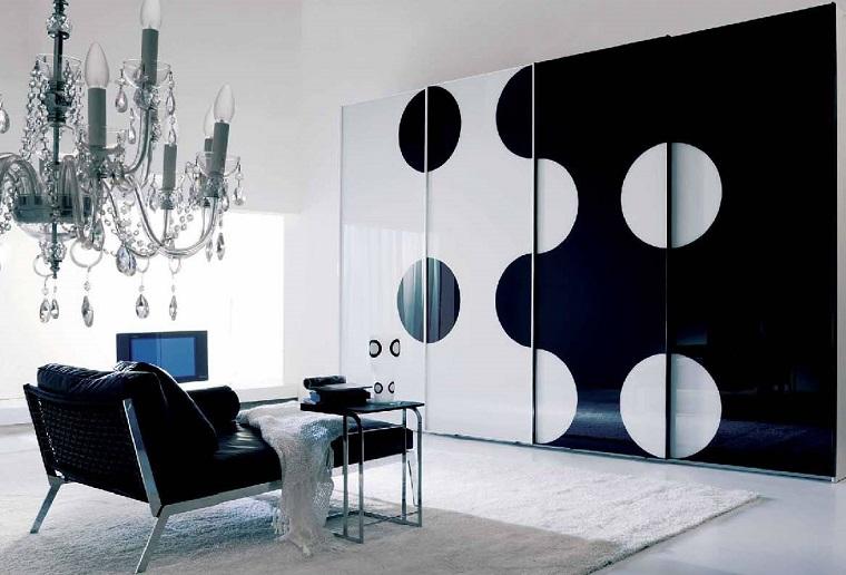 arredamento stile contemporaneo-parete-bianca-nera