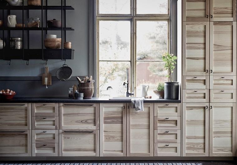 arredare-cucina-stile-country-mobili-legno