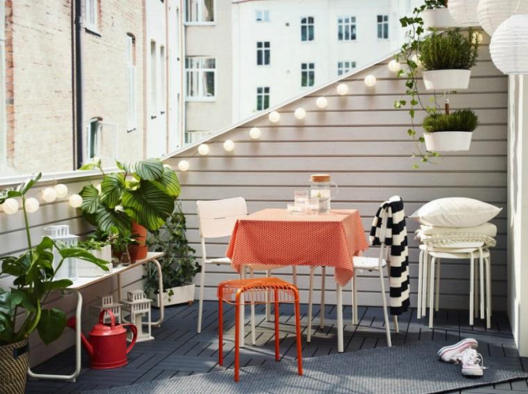 arredo terrazzi-mobili-ferro-battuto-colore-bianco