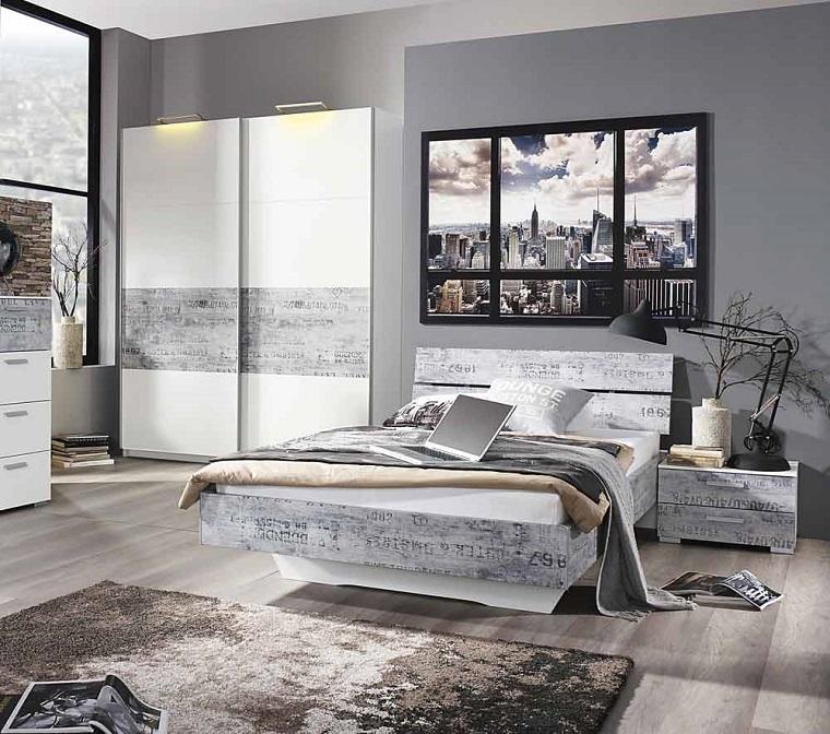camera-da-letto-arredamento-vintage-grigio Colori camera da letto  10  sfumature di grigio per la zona più intima ... e9b01da94024